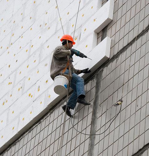 Утепление фасада многоквартирного дома в Москве